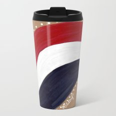 Red White and Blue Metal Travel Mug