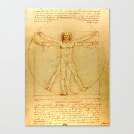 "Leonardo da Vinci ""The Vitruvian Man"" Canvas Print"