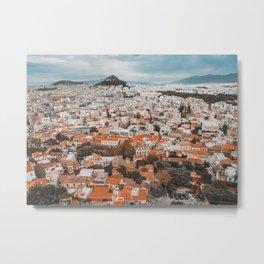 View of Acropolis in Athens Fine Art Print Metal Print