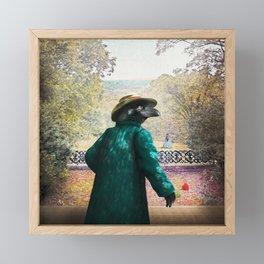 Ronaldo Raven on his way to a Romantic Rendezvous Framed Mini Art Print