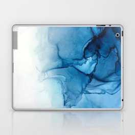Blue Tides - Alcohol Ink Painting Laptop & iPad Skin