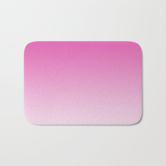 Simply girly pink color gradient - Mix and Match with Simplicity of Life Bath Mat