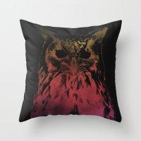 hedwig Throw Pillows featuring Hedwig by Erik Sandi Satresa
