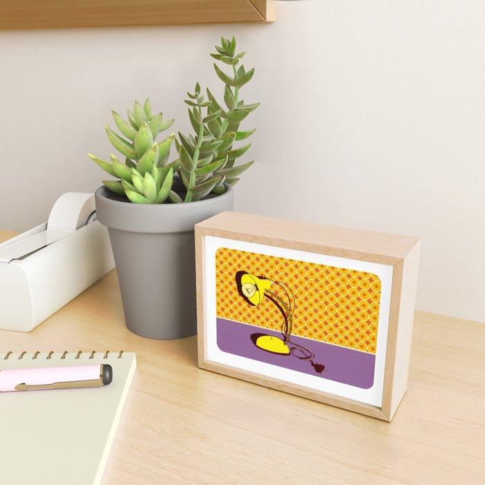 Lamp with Wallpaper Framed Mini Art Print