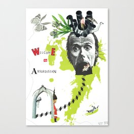 welcome to absurdistan/ no. 103/365 Canvas Print