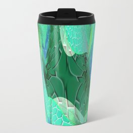Seafoam Green Abstract 2 Travel Mug