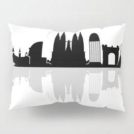 Barcelona skyline Pillow Sham