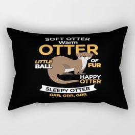 Soft Otter Warm Otter Sweet Cute Rectangular Pillow