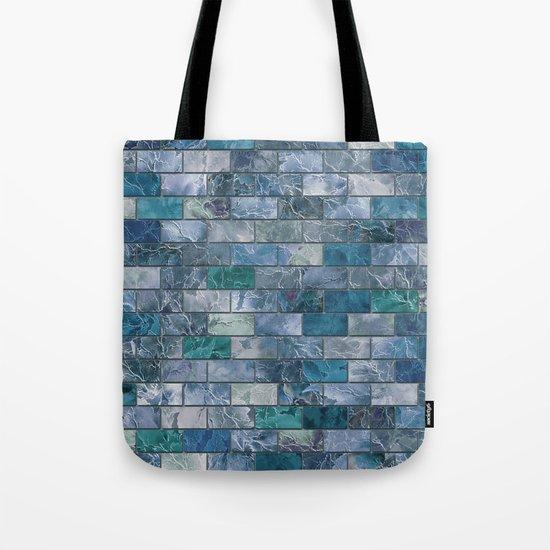 Frozen Leaves Tile Pattern Tote Bag