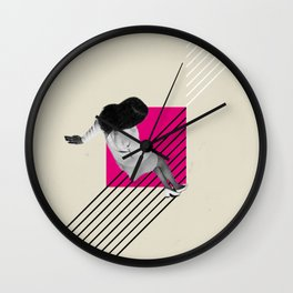 Geometric Falling Girl Graphic Wall Clock