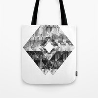cityscape Tote Bags featuring Cityscape   by To Be Design