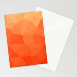 Abstract Geometric Gradient Pattern between Pure Red and very light Orange Stationery Cards