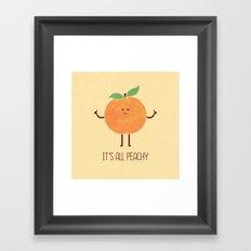 All Peachy Framed Art Print