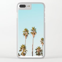 Palm trees in the sun Clear iPhone Case