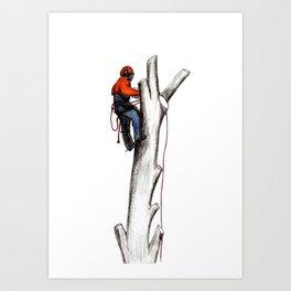 Arborist Tree Surgeon gift or present Art Print