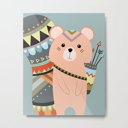 tribal squirrel Metal Print