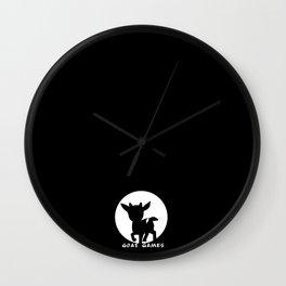 Goat Games Black&White Wall Clock