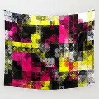 contemporary Wall Tapestries featuring Contemporary Geometric by Idle Amusement