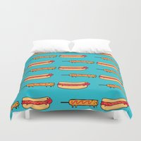 eat Duvet Covers featuring Dog Eat Dog World by Picomodi