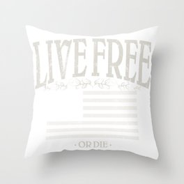 Live Free or Die | American Conservatism | liberty - Vintage Throw Pillow