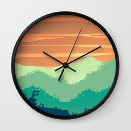 Mt Cheaha Sunset Wall Clock
