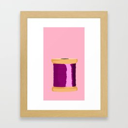 Purple Spool Of Thread Framed Art Print