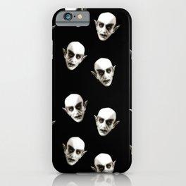 Dracula pattern iPhone Case
