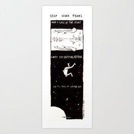 Deep Dark Fears 60 Art Print