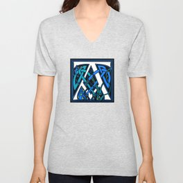 Celtic Peacocks letter A Unisex V-Neck