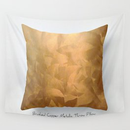 Brushed Copper Metallic Throw Pillow Art Print - Postmodernism - Jeff Koons Inspired Pop Art Wall Tapestry