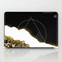 snowboarding iPad Cases featuring Golden Mountain by Schwebewesen • Romina Lutz