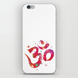 Colorful Om Symbol iPhone Skin