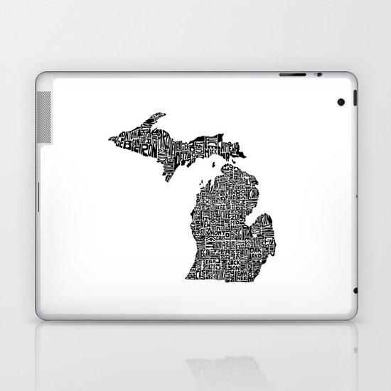 Typographic Michigan Laptop & iPad Skin