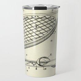 Construction of Tennis Rackets-1887 Travel Mug