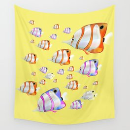 Tropical fish Yellow edition Wall Tapestry