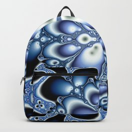 Fractality Of Blue Fractal Art Print Backpack