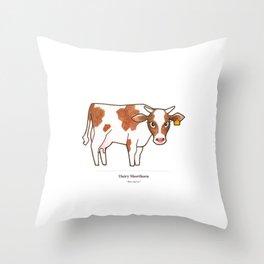 Dairy Shorthorn Throw Pillow
