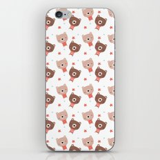 Christmas cute bears iPhone & iPod Skin