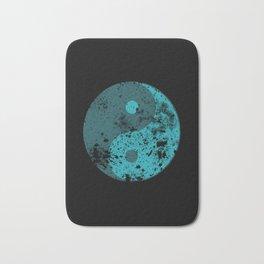 Splatter Yin Yang symbol Bath Mat