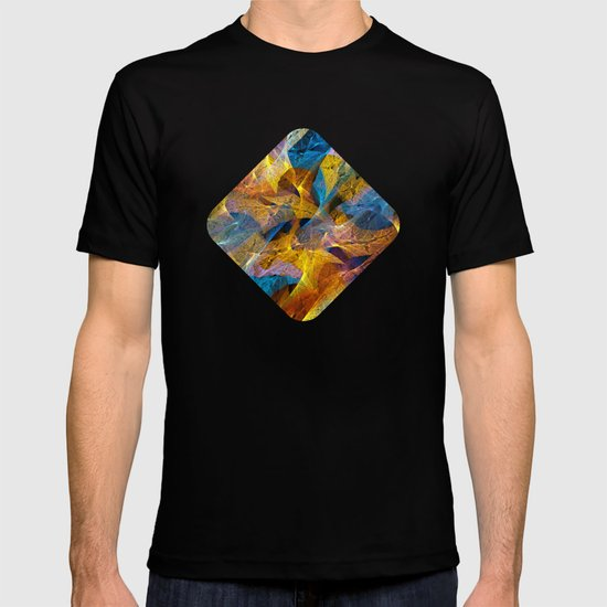 Gold & Blue Abstract T-shirt