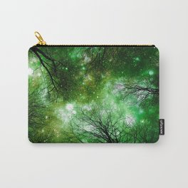 Black Trees Green Space Carry-All Pouch