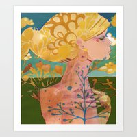 blondie Art Prints featuring Blondie by Bailey Saliwanchik