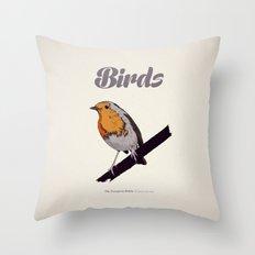 BIRDS 02 Throw Pillow