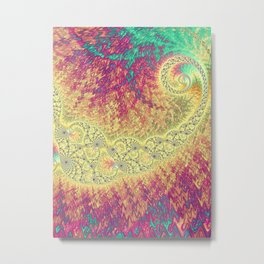 Colorful Quilt Fractal Metal Print