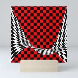 Schwarz rot weiss Mini Art Print