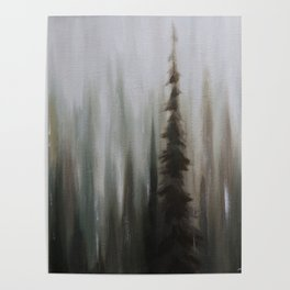 Pacific Northwest Forest oil painting by Jess Purser Poster