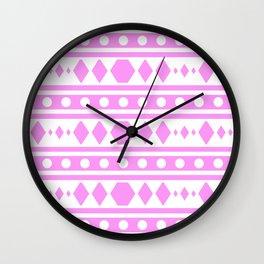 Pink Pattern Tribal Wall Clock