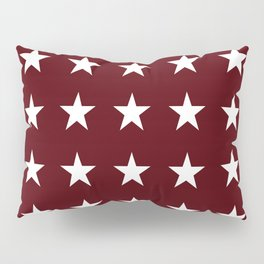 Stars on Maroon Pillow Sham