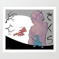 samurai champloo Art Prints featuring Sakura Samurai by SenilChris