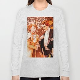 """Alphonse Mucha """"Flirt Lefevre Utile"""" Long Sleeve T-shirt"""
